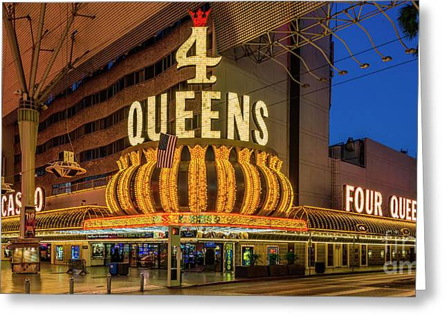 4 Queens Casino Entrance Greeting Card by Aloha Art