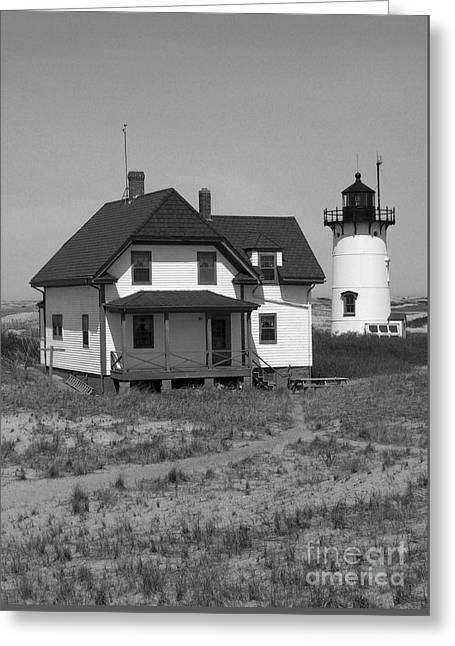 Race Point Lighthouse Ma Greeting Card by Skip Willits