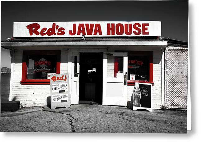 Red's Java House Of San Francisco Greeting Card by Mountain Dreams