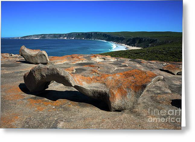 Remarkable Rocks Greeting Card by Andrew Michael