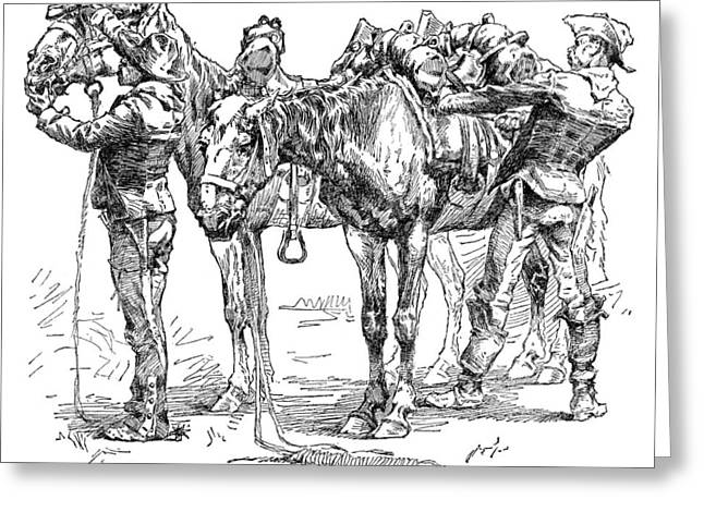 Remington: 10th Cavalry Greeting Card