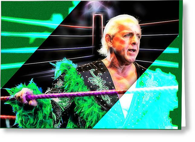 Ric Flair Wrestling Collection Greeting Card by Marvin Blaine