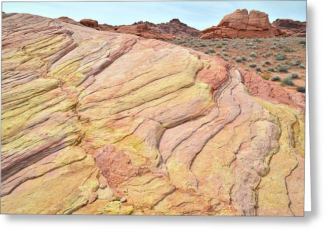 Greeting Card featuring the photograph Ripples Of Color In Valley Of Fire by Ray Mathis