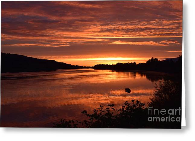 River Suir Sunset Greeting Card by Joe Cashin