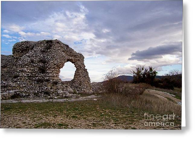 Greeting Card featuring the photograph Roman Ruins by Judy Kirouac