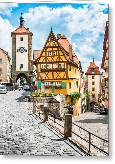 Rothenburg Ob Der Tauber Greeting Card
