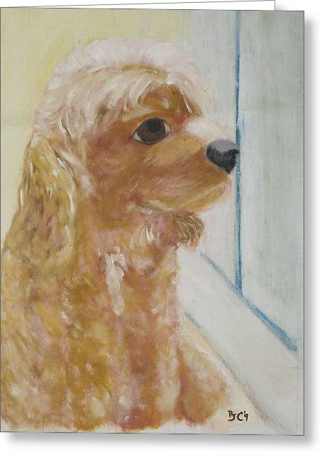 Rusty Aka Digger Dog Greeting Card