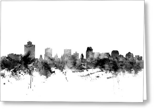 Salt Lake City Skyline Greeting Card by Michael Tompsett