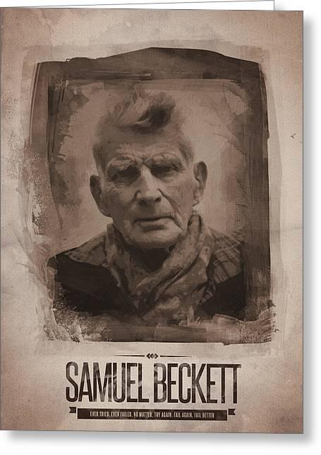 Samuel Beckett 02 Greeting Card by Afterdarkness