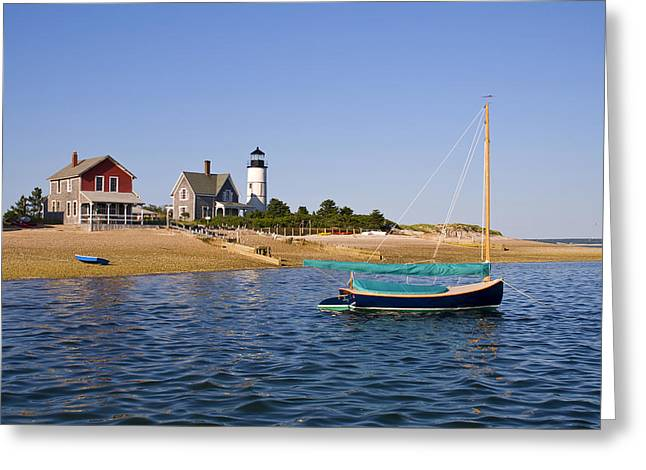 Sandy Neck Lighthouse Greeting Card by Charles Harden