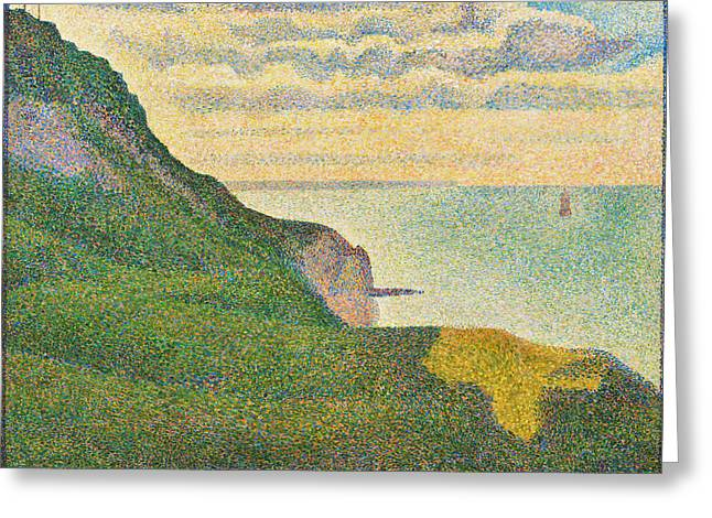Seascape At Port-en-bessin, Normandy Greeting Card