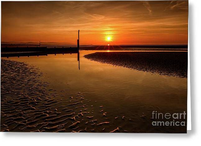 Seascape Sunset Greeting Card
