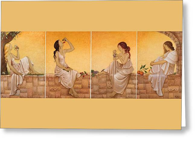 4 Seasons II Greeting Card by Barbara Gerodimou