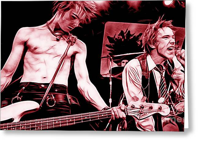 Sex Pistols Collection Greeting Card by Marvin Blaine