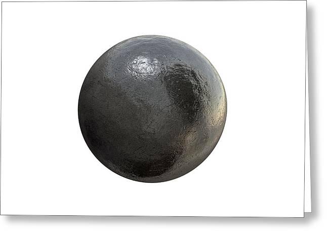Shotput Ball Isolated Greeting Card
