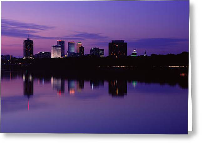 Silhouette Of Buildings Greeting Card by Panoramic Images