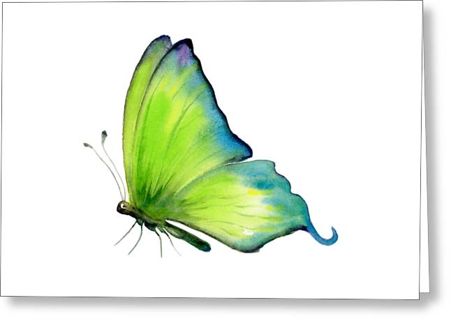 4 Skip Green Butterfly Greeting Card