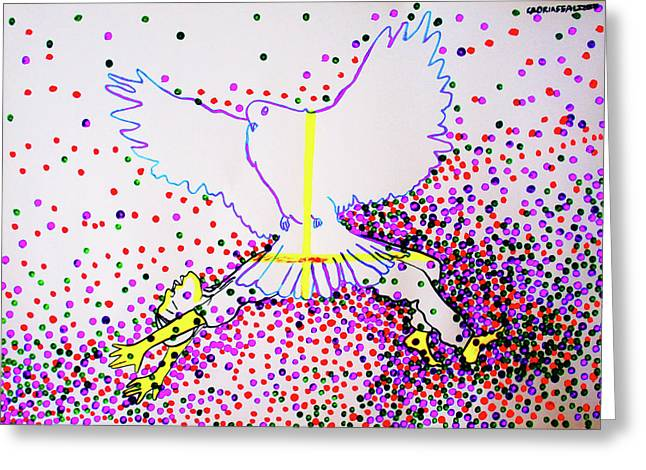 Slain In The Holy Spirit Greeting Card by Gloria Ssali