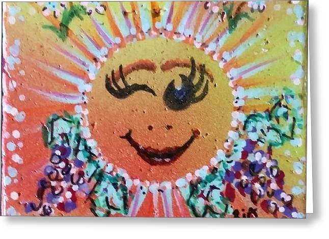 Smiley Tiley Greeting Card by Maria Pancheri