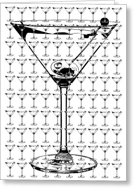 So Many Martinis So Little Time Greeting Card by Jon Neidert