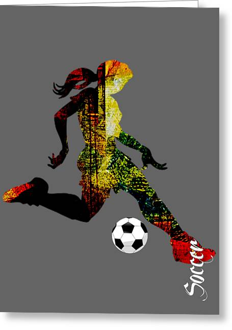 Soccer Collection Greeting Card by Marvin Blaine