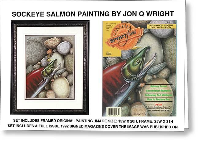Sockeye Salmon Greeting Card by Jon Q Wright