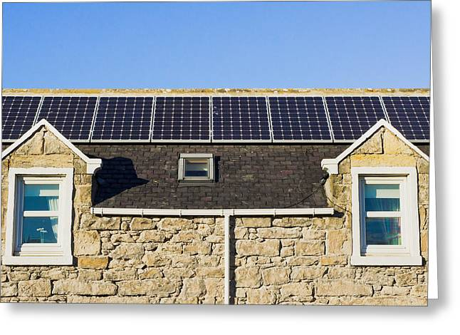 Solar Panels Greeting Card by Tom Gowanlock