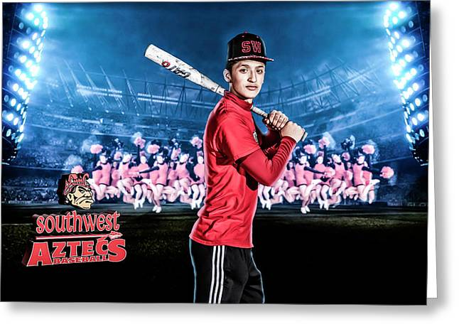 Southwest Aztecs Baseball Organization Greeting Card by Nicholas Grunas
