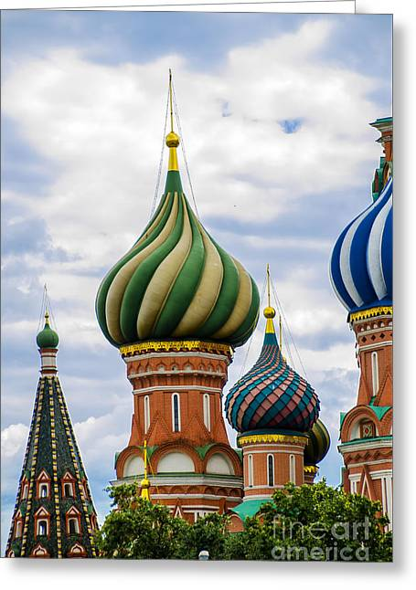 St Basils - Red Square - Moscow Russia Greeting Card