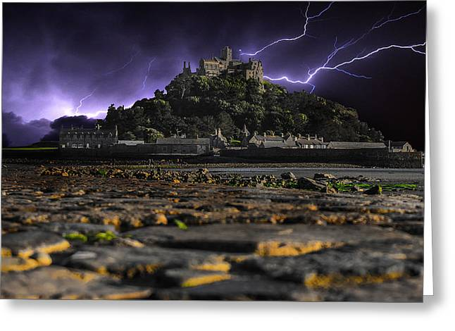 St Michaels Mount Greeting Card by Martin Newman