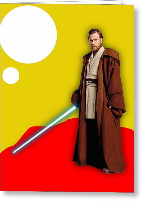 Star Wars Obi Wan Kenobi Collection Greeting Card by Marvin Blaine