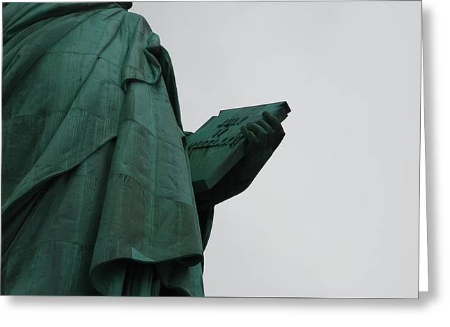 Statue Of Liberty Greeting Card by Craig Fildes