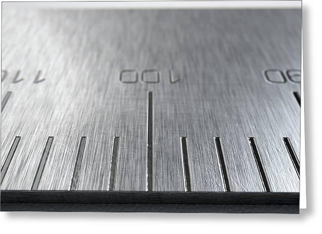 Steel Ruler Closeup Greeting Card