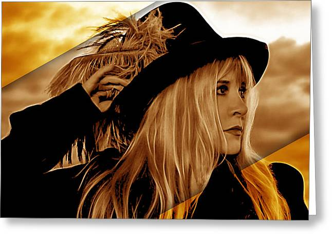 Stevie Nicks Collection Greeting Card