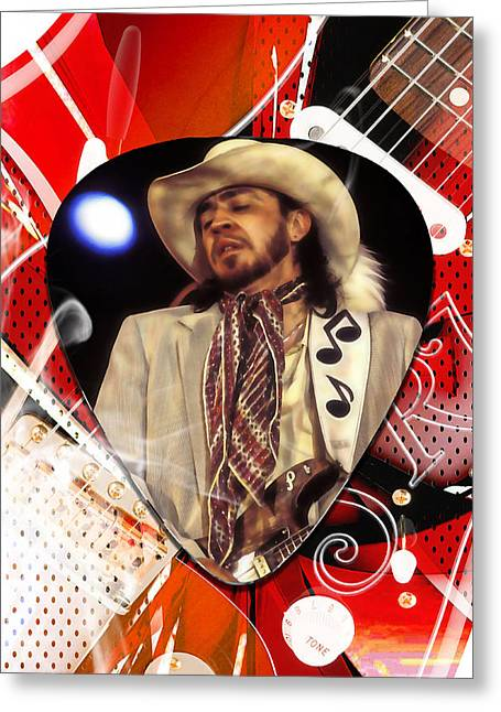 Stevie Ray Vaughan Art Greeting Card by Marvin Blaine