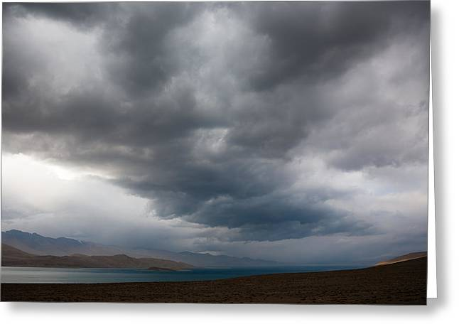 Storm On Karakul Lake Greeting Card