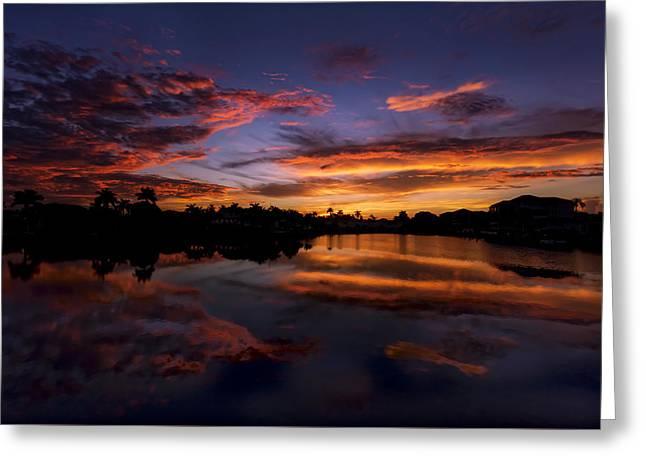 Sunrise At Naples, Florida Greeting Card by Peter Lakomy