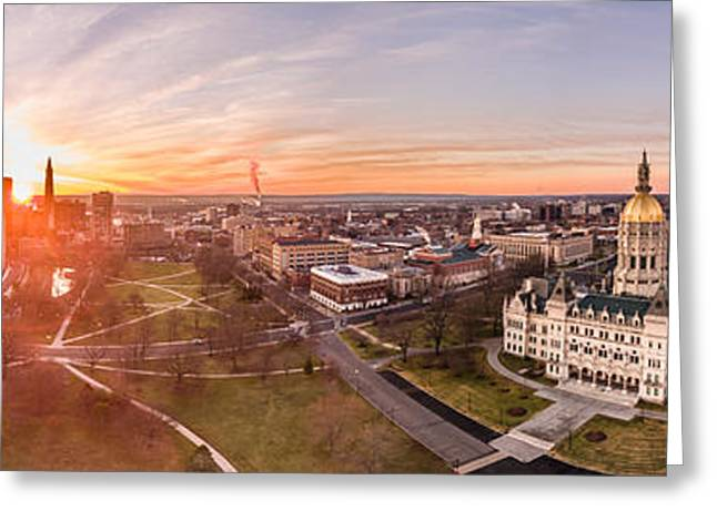 Greeting Card featuring the photograph Sunrise In Hartford, Connecticut by Petr Hejl