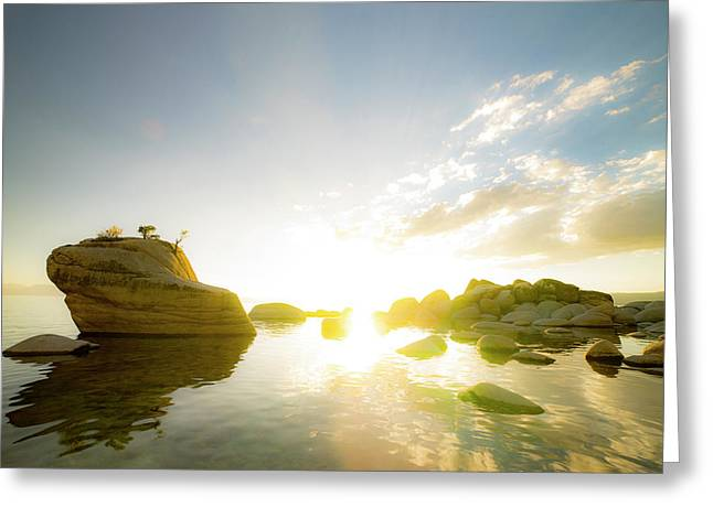 Sunset At Bonsai Rock Greeting Card