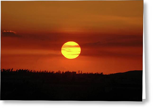 Greeting Card featuring the photograph 4- Sunset by Joseph Keane