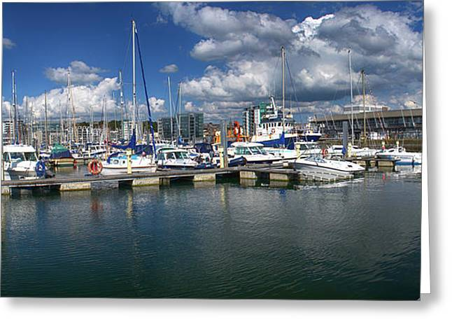 Sutton Harbour Plymouth Greeting Card by Chris Day