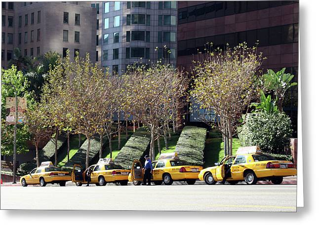 4 Taxis In The City Greeting Card