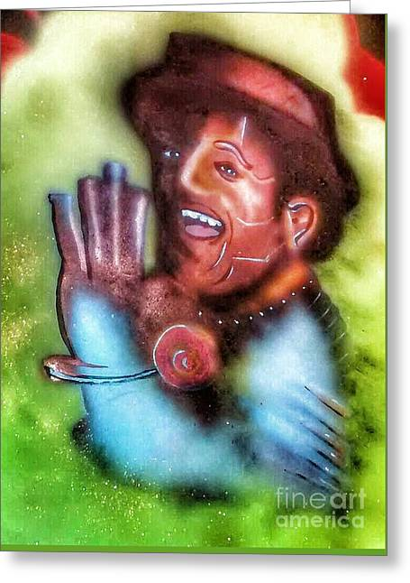 Slide Some Oil To Me Greeting Card by S Clark TruEntertainment