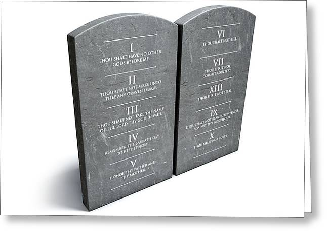 Ten Commandments Greeting Card