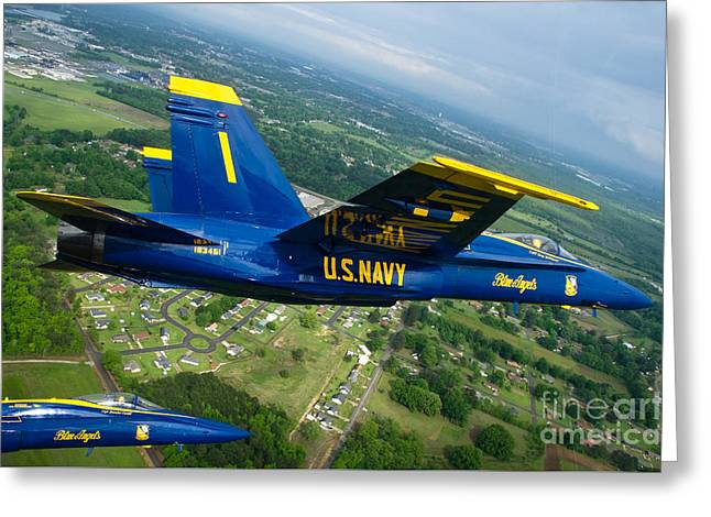 the Blue Angels Greeting Card by Celestial Images