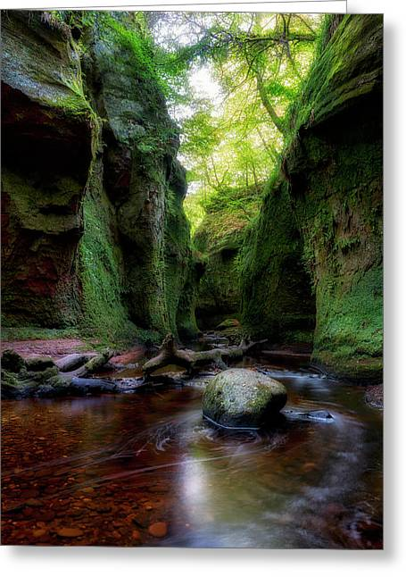 The Devil Pulpit At Finnich Glen Greeting Card