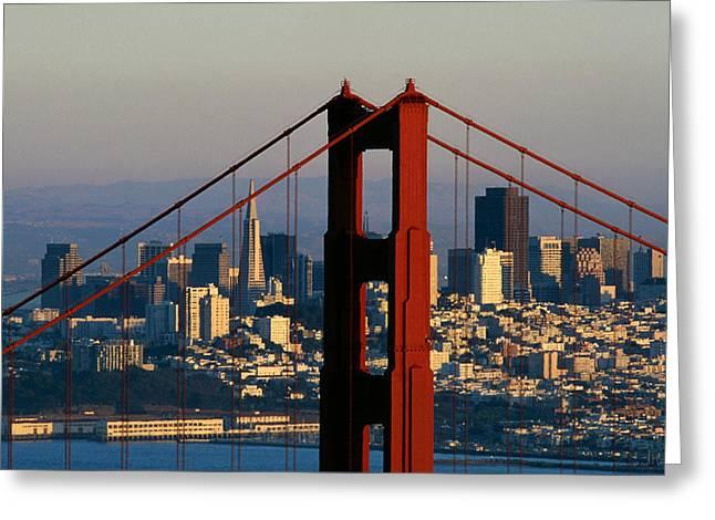The Golden Gate Bridge Greeting Card by American School