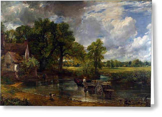 The Hay Wain Greeting Card by Celestial Images