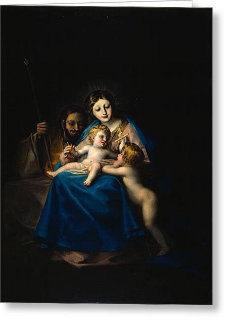 The Holy Family Greeting Card by Francisco Goya