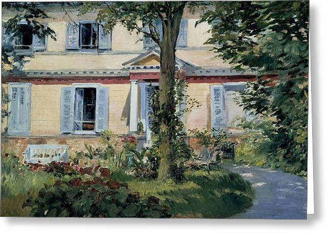 The House At Rueil Greeting Card by MotionAge Designs
